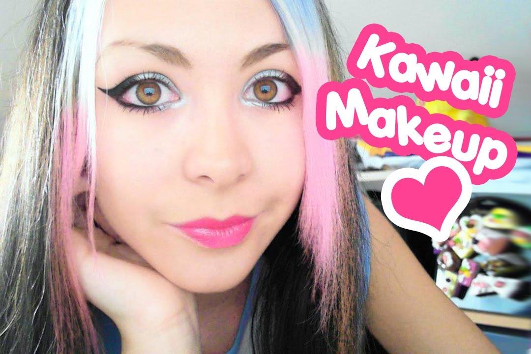 Very simple tutorial for Kawaii Makeup ♥