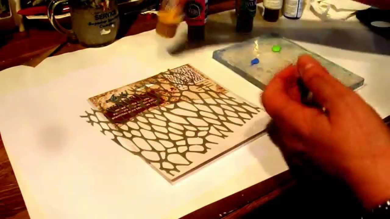 Gelli plate tutorial with acrylic paint becomes card youtube gelli plate tutorial with acrylic paint becomes card baditri Gallery