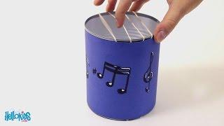 Tuto : fabriquer une Guitare avec une boîte de conserve (Hellokids)