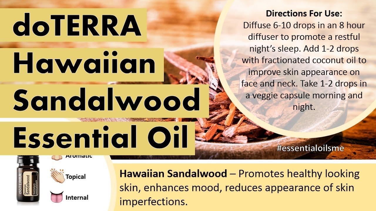 Best doTERRA Hawaiian Sandalwood Essential Oil Uses - YouTube