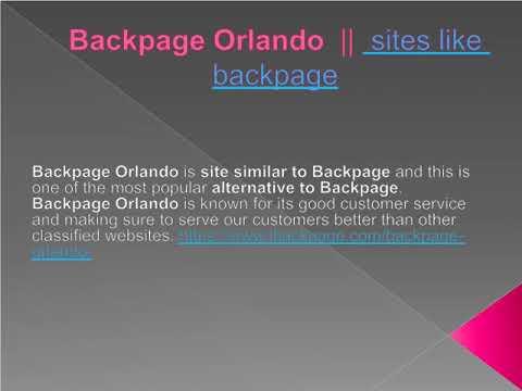 Backpage Orlando