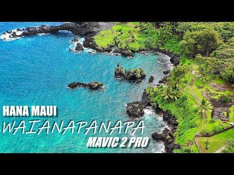 Mavic 2 Pro - Waianapanapa 4K 'Black Sand Beach' Hana Maui Hawaii (Auto Camera Settings)