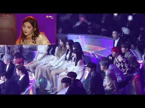 181201 방탄소년단 (BTS) Reaction To 여자아이들 (GIDLE) HANN & LATATA [MMA 2018] CLOSE-UP REACTION