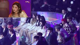 181201 (BTS) Reaction to (GIDLE) HANN &amp LATATA [MMA 2018] CLOSE-UP REACTION