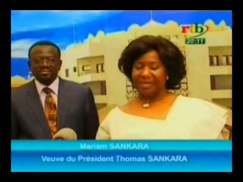 RTB / Politique - Visite  de Mariam Sankara au  président Michel Kafando
