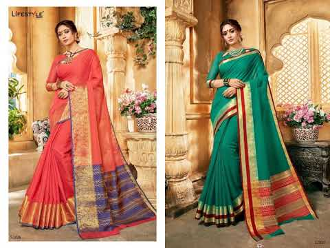8296faac09 BUNDLE OF 12 WHOLESALE SAREE KHADI SILK VOL 16 BY LIFESTYLE - YouTube