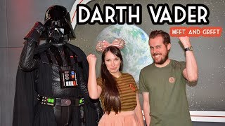 Making new alliances with Darth Vader at a Disneyland Meet and Greet!