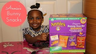 ANNIE'S ORGANIC BUNNY SNACKS TASTE TEST | REVIEW