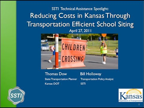 SSTI Technical Assistance: School Siting in Kansas