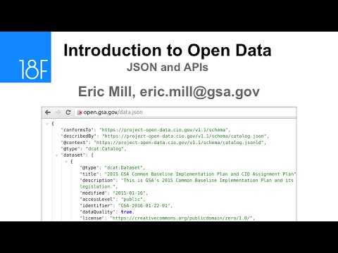 An Introduction to Open Data and APIs