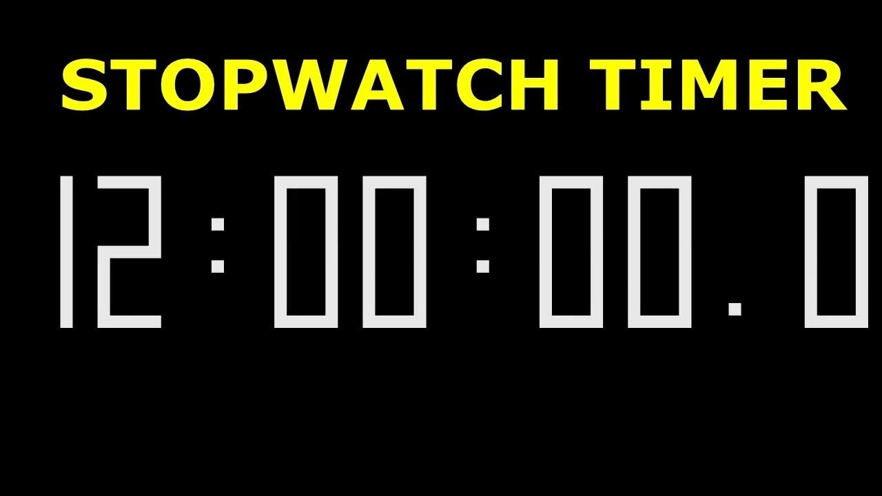Download rd #050 Stopwatch timer 12 hour 720p