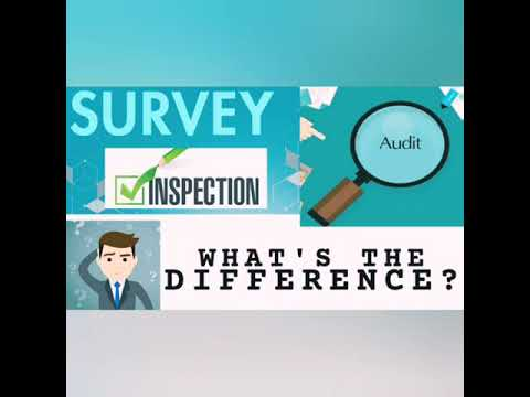 What is the difference between AUDIT, INSPECTION & A SURVEY? Simplified explanation with examples!