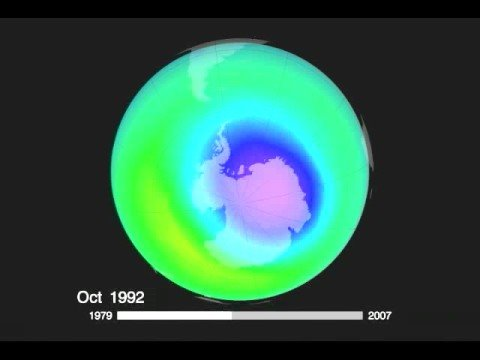 The Earth's Ozone Hole from 1979-2007