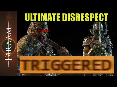 Gladiator shows Ultimate Disrespect - One Hero to offend them all [For Honor]