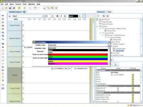 Report Design - Metadata Connection