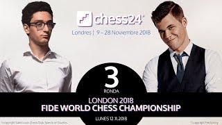 Campeonato del Mundo de Ajedrez: Fabiano Caruana - Magnus Carlsen (3)