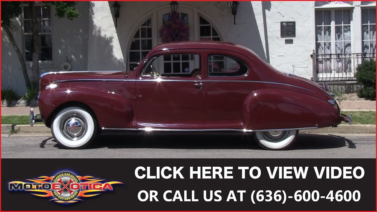 1941 Lincoln Zephyr V 12 Sold Youtube Continental Town Car Motoexotica Classic Cars