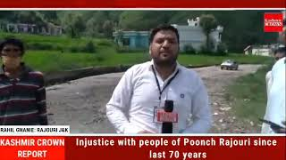 Injustice with people of Poonch Rajouri since last 70 years