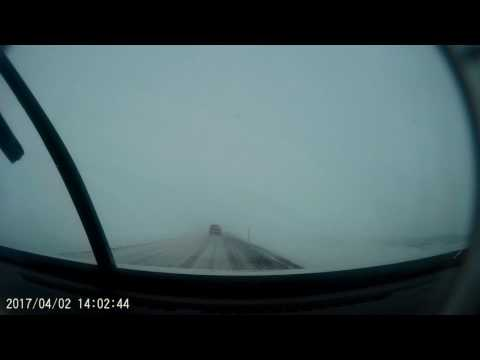 Driving in Iceland - early Spring, April 2017 - Road 61