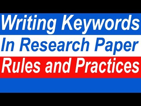 Keywords In Research Paper | Rules To Write Keywords In Research Paper
