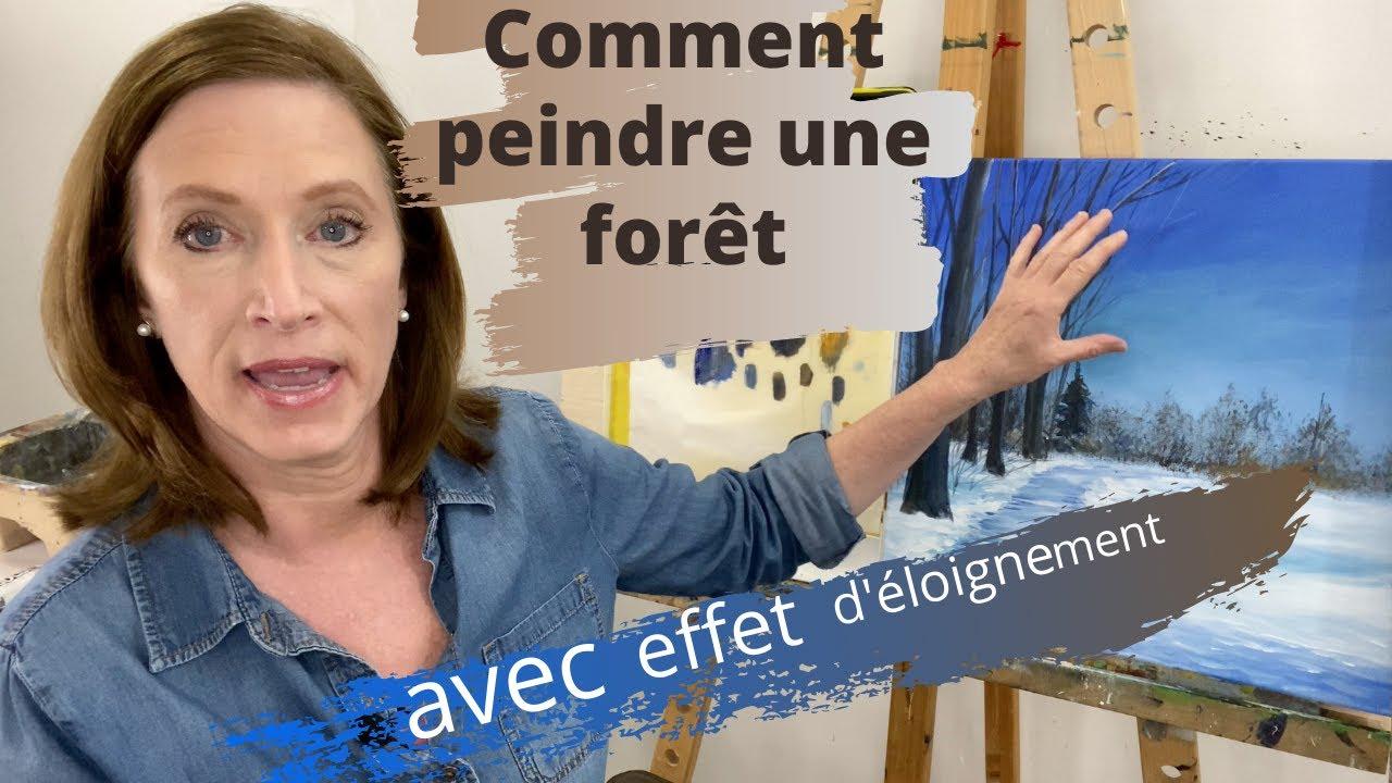 Comment peindre une forêt avec l'effet d'éloignement et de profondeur