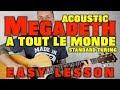 How to play Megadeth -A Tout Le Monde Acoustic Guitar