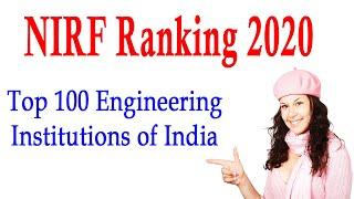 NIRF Ranking 2020 Top 100 Engineering Institutions in India