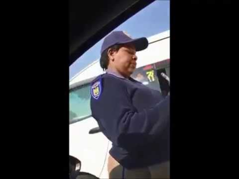 South African traffic police stop a guy, watch what happens