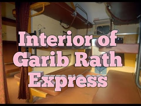 How Garib Rath interior is different from other trains.