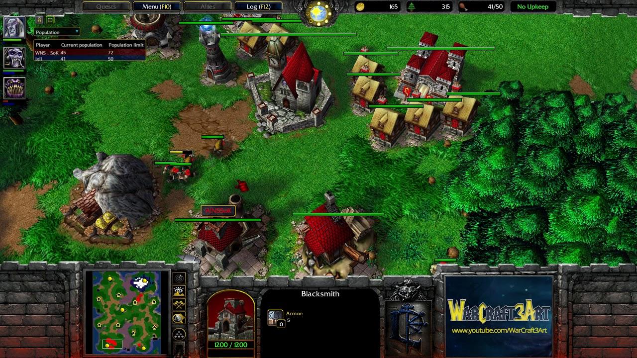 Sok(HU) vs XlorD(UD) - WarCraft 3 Frozen Throne - RN4012