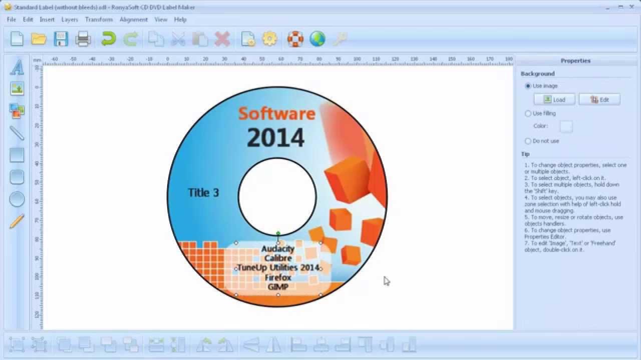 Cómo crear una etiqueta adhesiva para CD? - YouTube