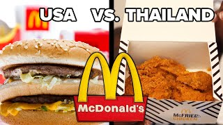 Trying American Vs. Thai McDonald's