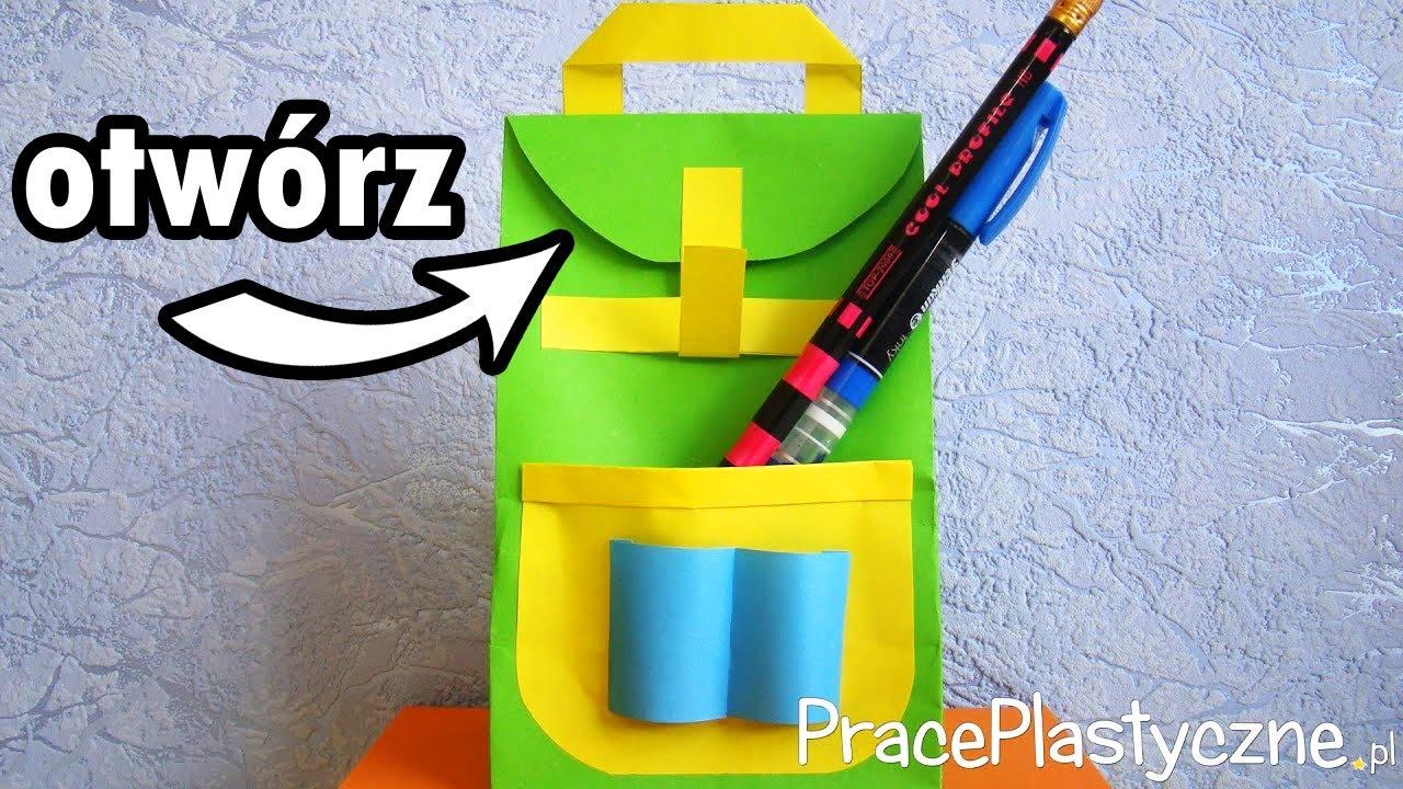 Jak zrobić papierową torebkę?  plecak  YouTube -> Kuchnia Dla Dzieci Jak Zrobić