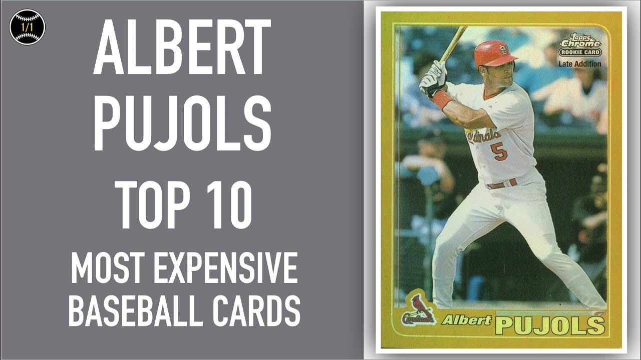 Albert Pujols Top 10 Most Expensive Baseball Cards Sold On Ebay February April 2019