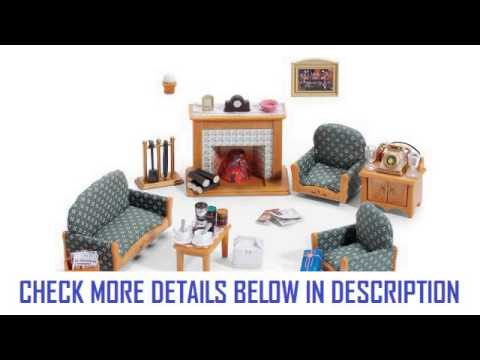 calico critters deluxe living room set - youtube