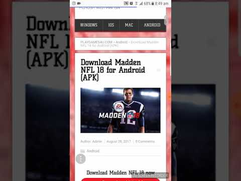 Download Madden NFL 18 For Android (APK)
