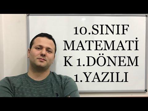 10.Sınıf Matematik 1.Dönem
