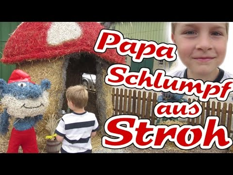 sommerferien 2015 vlog die schl mpfe papa schlumpf haus aus stroh kanal f r kinder kinderkanal. Black Bedroom Furniture Sets. Home Design Ideas