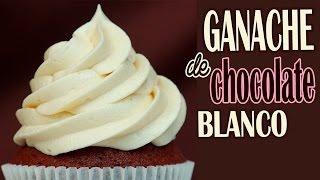 Ganache de chocolate blanco para tartas o cupcakes