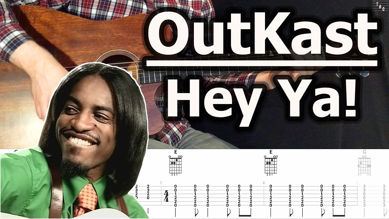 Outkast Hey Ya Acoustic Guitar Cover Tutorial With Tab Youtube