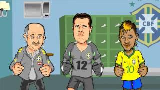 CHARGE ANIMADA Seleção Brasileira com o emocional abalado