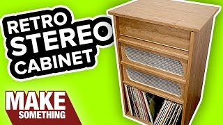Woodworking project: Making a retro stereo cabinet. Subscribe to my channel: http://bit.ly/1XTHlSF More photos, details and plans