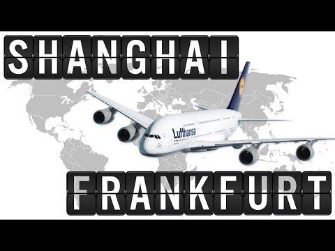 A380 Cockpit Flight Timelapse from SHANGHAI [PVG] to FRANKFURT [FRA] 8800km