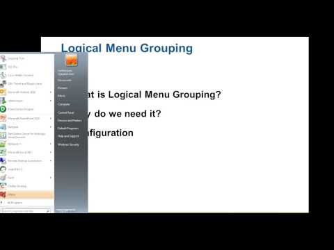 IDD - Logical Menu Grouping