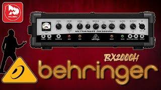 BEHRINGER BX2000H - басовый усилитель на 2000 Вт (правда очень мощный)