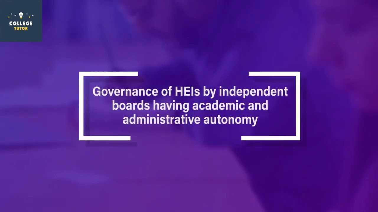 Highlights of NewEducationPolicy for Higher Education