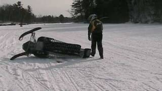 Ski-Doo 800 Wheelie Crash...