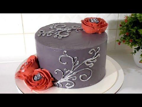 КРЕМОВЫЙ ТОРТ с цветами на ДЕНЬ РОЖДЕНИЯ Самые вкусные торты