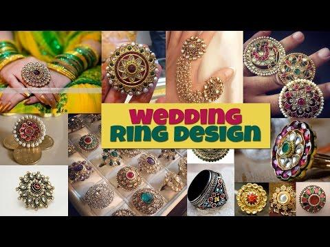 BIG KUNDAN WEDDING RING DESIGNS