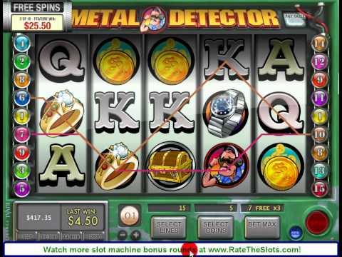 Metal Detector Slot Machine Bonus Round